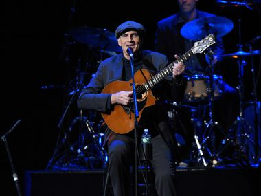 James Taylor performs in New York.