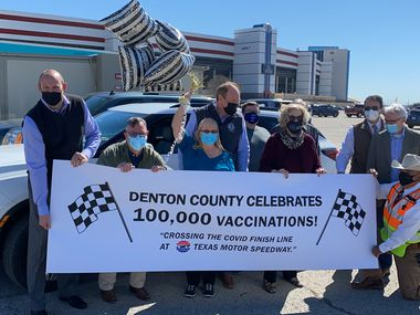 Texas Motor Speedway celebrated giving its 100,000 vaccine dose on Thursday.