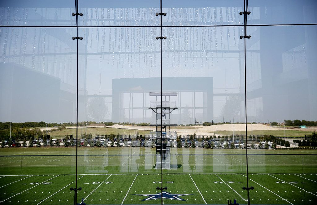 A view of the practice fields at the Dallas Cowboy headquarters at The Star in Frisco, Texas Thursday September 8, 2016. (Andy Jacobsohn/The Dallas Morning News)