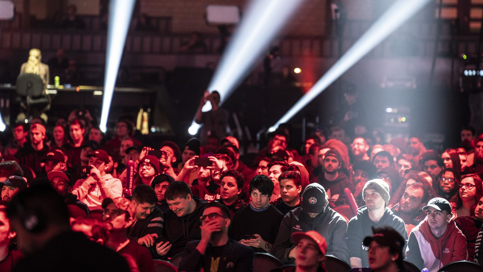 Fans watch as Dallas Empire competes against Atlanta Faze in the Call of Duty League Launch Weekend at the Armory in Minneapolis, Minn., January 25, 2020.