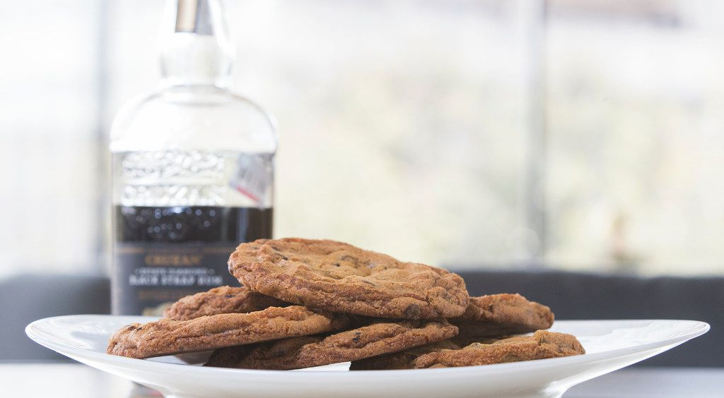Chocolate chip cookies are made with at Bullion restaurant in Dallas.