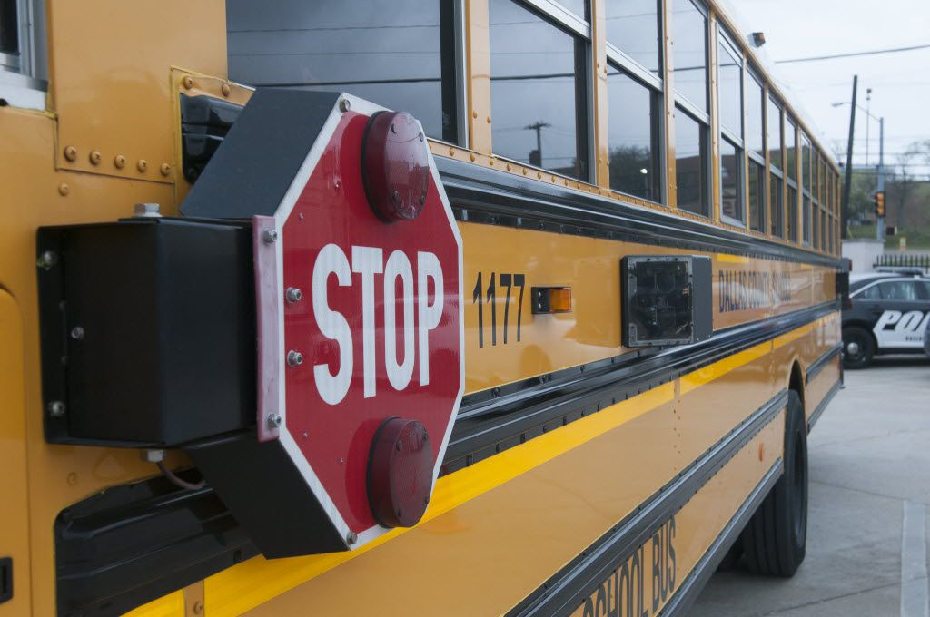 Dallas County Schools introduced the BusGuard System in 2014.  This bus is equipped with eight cameras on the outside and three inside (including the stop arm cameras) and a thumb print scanner.