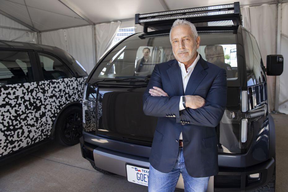 Canoo chairman and CEO Tony Aquila poses at Texas Motor Speedway.