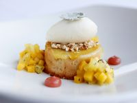 Oak's menu has changed over the years. Here's a lovely coconut pineapple cake from 2014 at the Dallas Design District restaurant.