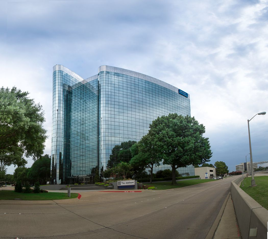 The Addison building that houses Robert Half International's Dallas area offices. The staffing firm says over 60% of Dallas employers plan to add jobs in the second half of this year.