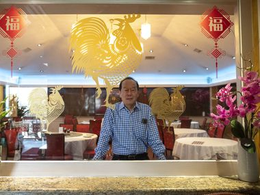 General Manager Michael Chan of Kirin Court restaurant in Richardson, on Thursday, Jan. 28, 2021. Kirin Court uses various takeout services to keep the restaurant afloat during the COVID-19 pandemic.