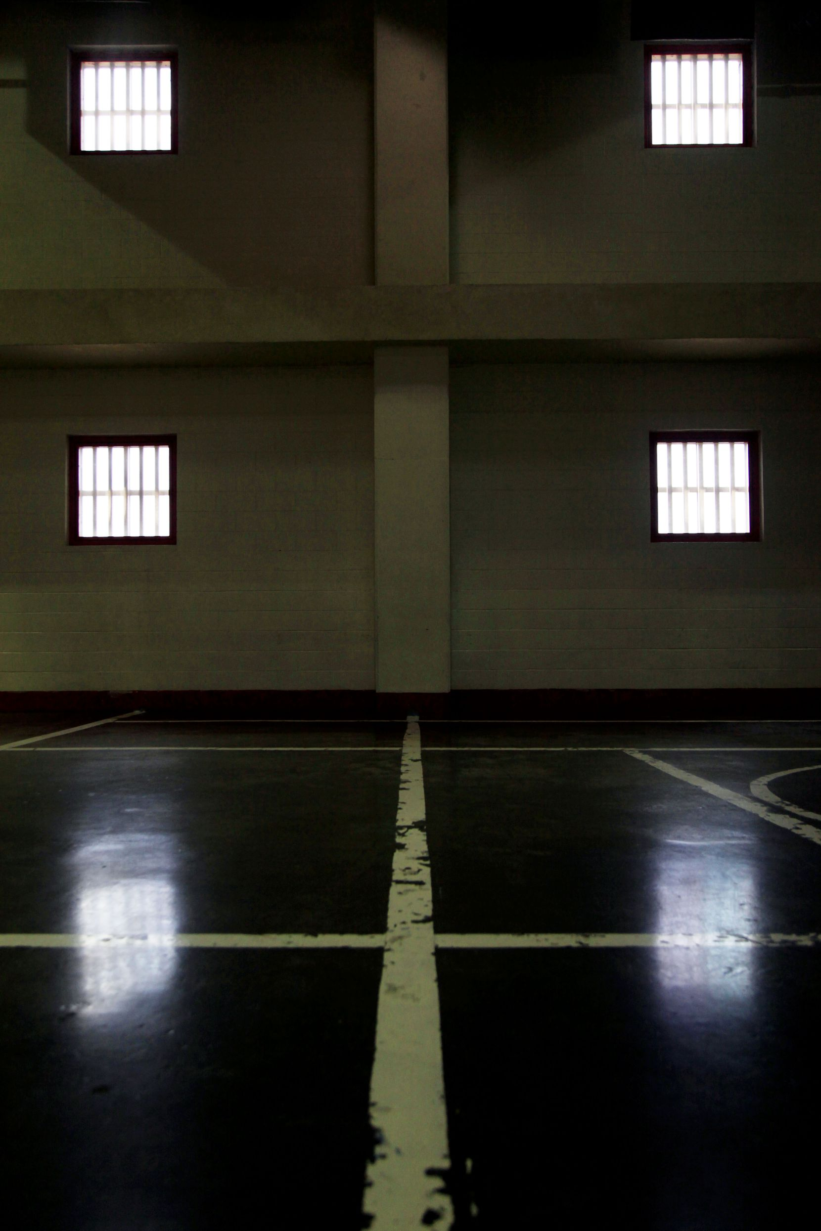 The gym inside the former Jesse R. Dawson State Jail on Aug. 29, 2013 in Dallas. The jail held up to 2,200 offenders with state jail felonies and two-year maximum sentences.