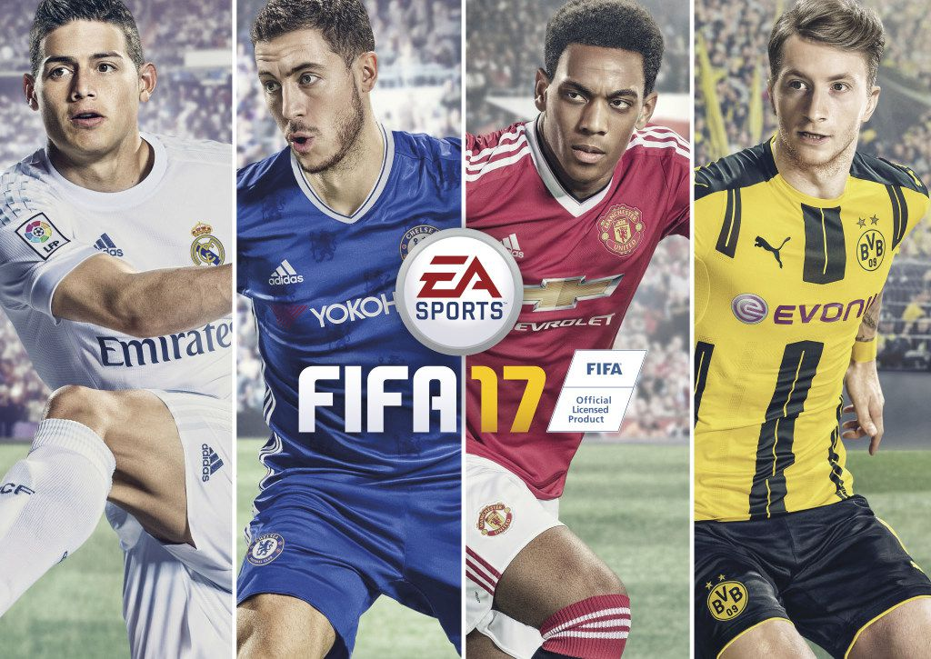 Official game covers for EA Sports FIFA 17. (Electronic Arts/TNS)