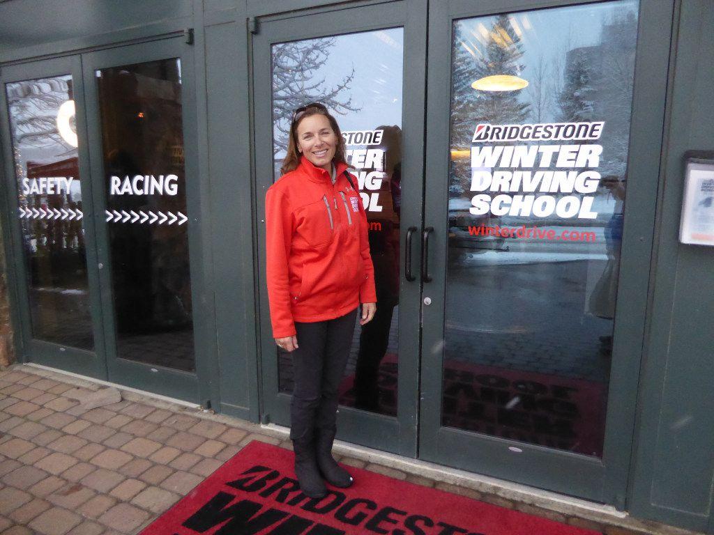 Bridgestone Winter Driving School Instructor Lea Croteau.