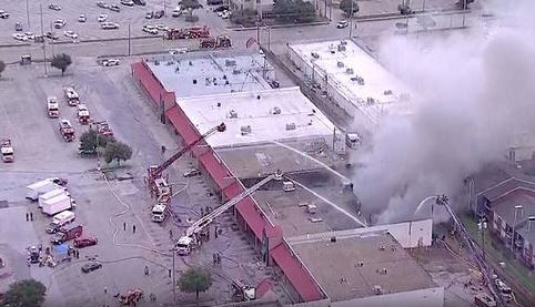 A thrift store was destroyed in an early morning fire Wednesday in Lewisville.