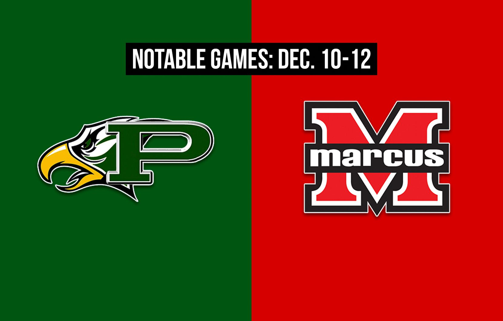 Notable games for the week of Dec. 10-12 of the 2020 season: Prosper vs. Flower Mound Marcus.