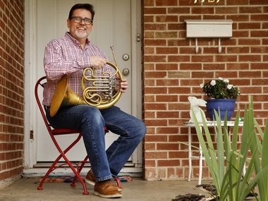 Brian Brown, a freelance French hornist, is spending time at his Hurst home when he'd rather be performing. Because of the pandemic, Brown has lost his main source of income. He is now completing deliveries for DoorDash, teaching lessons online and taking online coding classes.