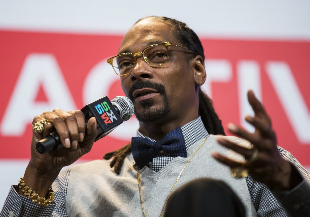 Rapper Snoop Dogg, during the SXSW music festival Friday, March 20, 2015 .