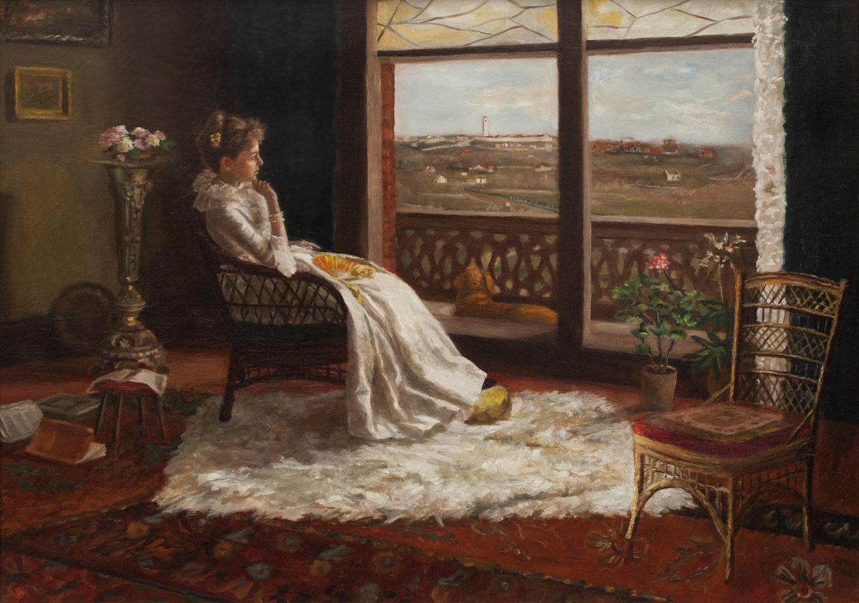 Mrs. Chandler, Robert and Julian Onderdonk, circa 1905
