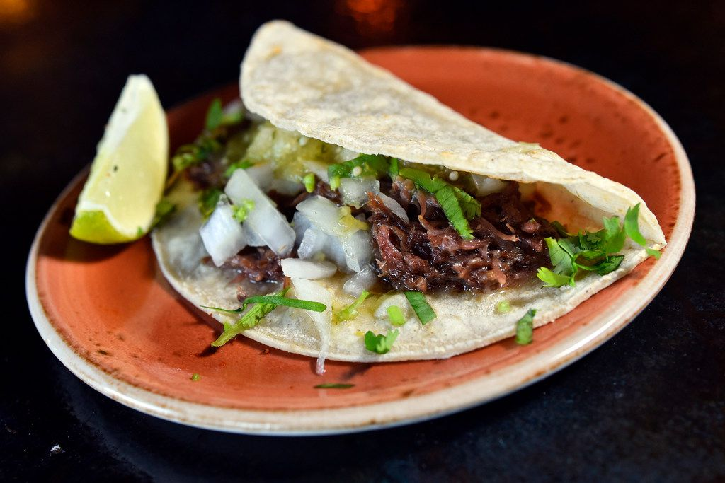 Barbacoa taco from Ruins bar at Deep Ellum