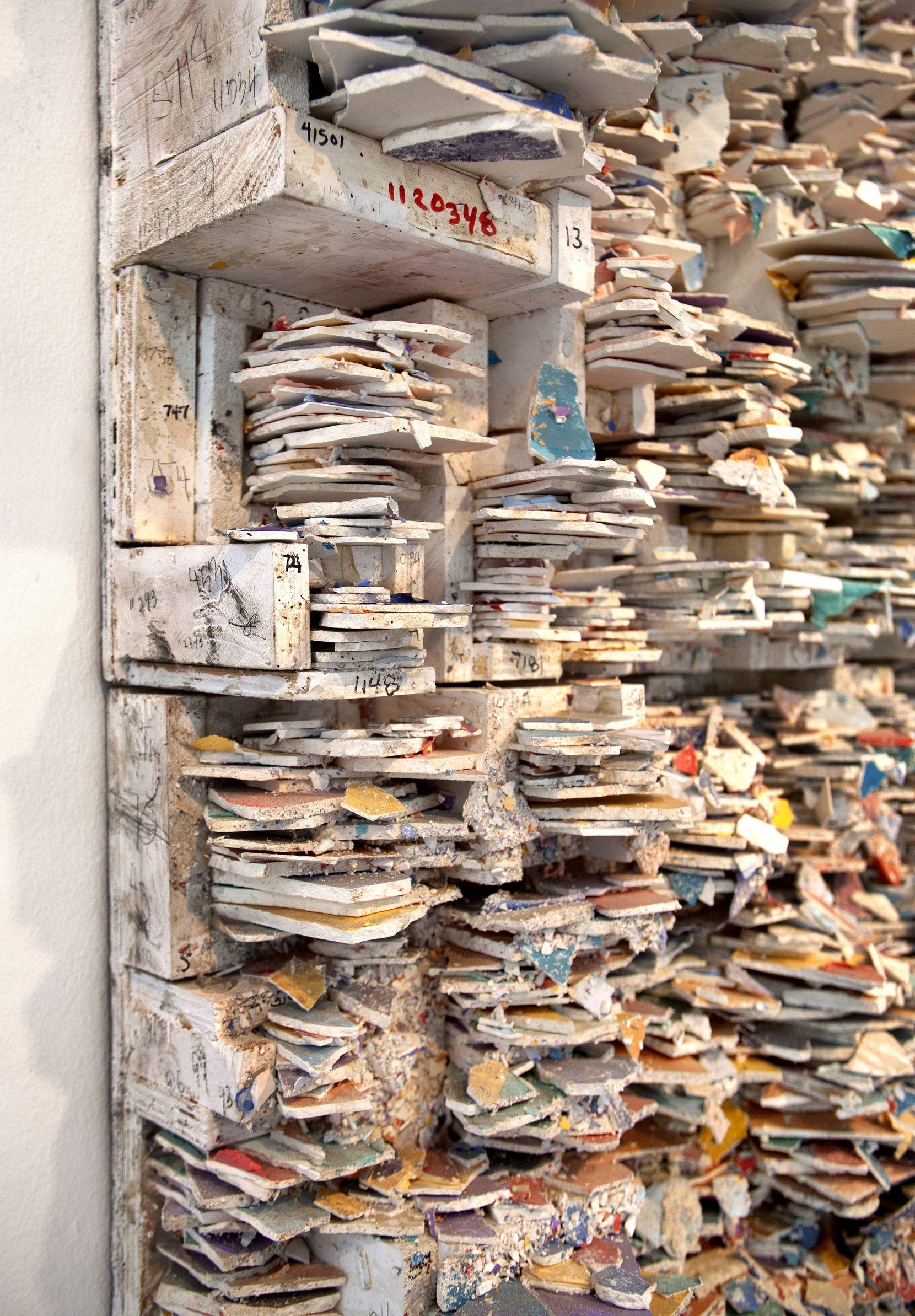 Leonardo Drew, 'Number 196T,' 2019, paint and plaster (detail) at 'Leonardo Drew' at Talley Dunn Gallery through Dec. 15.
