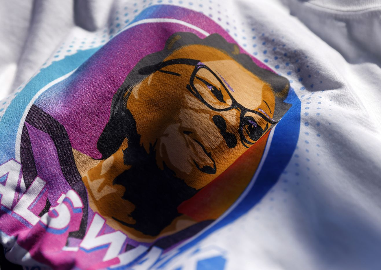 Tee-shirts bearing the likeness of Opal Lee were sold for the walk that started at Evans Avenue Plaza in Fort Worth, Saturday morning, June 19, 2021,