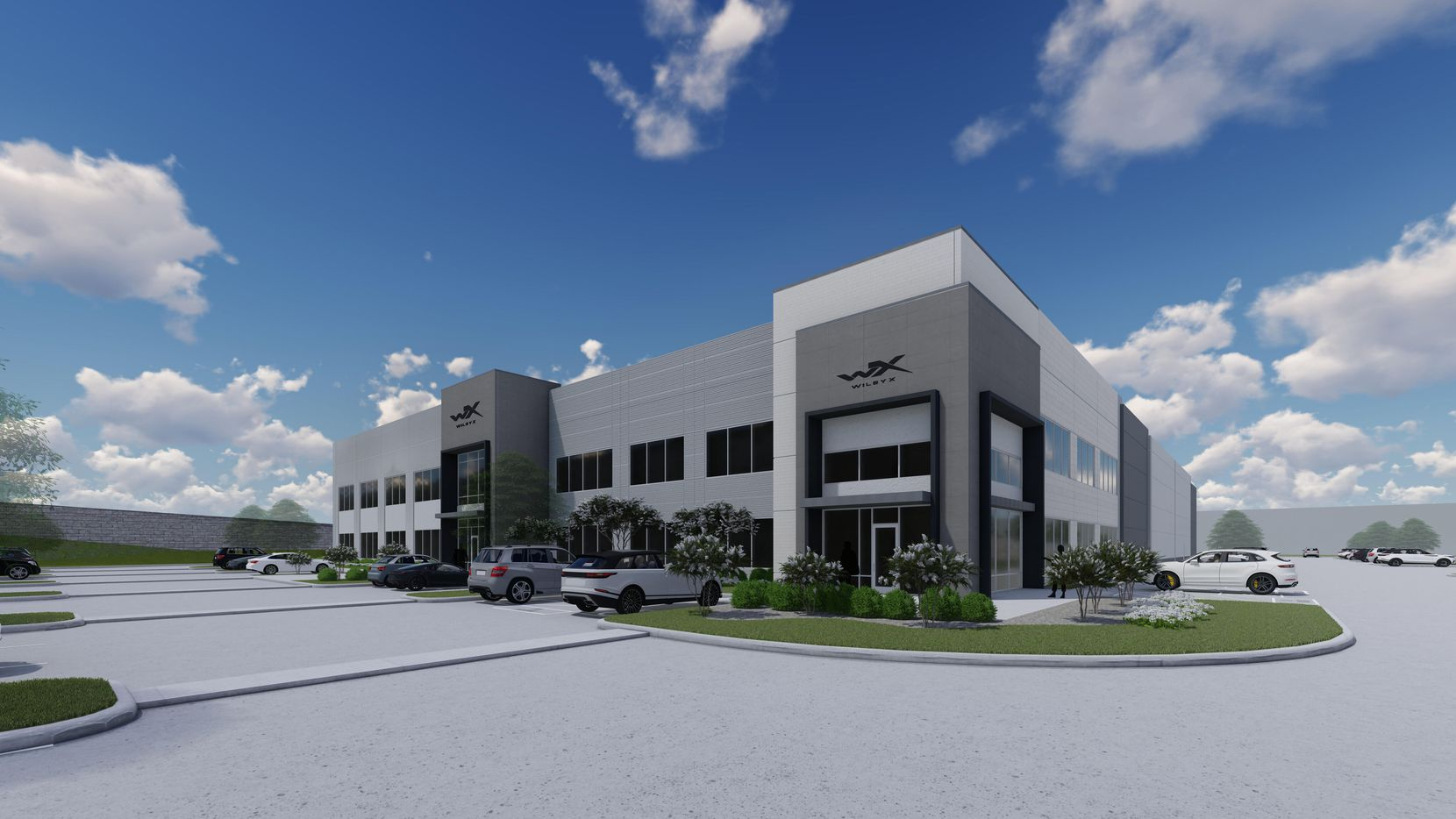 A rendering of protective eyewear company Wiley X's new headquarters being built in Frisco. The building is expected to open in the second quarter of 2022.