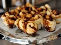 Baby buns, or mini cinnamon rolls, on display at another Cinnaholic location in North Texas in this file photo.