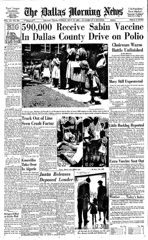 The Dallas Morning News had extensive coverage of the effort after the initial day of mass vaccinations.