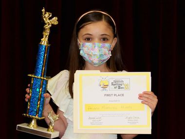 Nine-year-old Ariana Martinez Hueda won the Region 10 ESC Spanish Spelling Bee, making her the first Garland ISD student to win the competition.