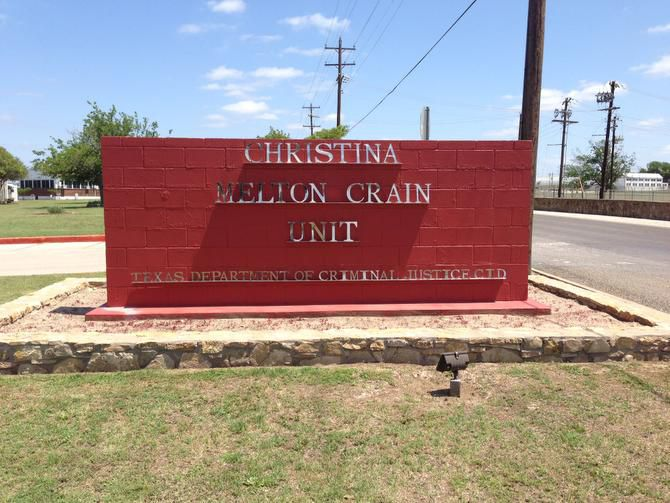 The Christina Melton Crain Unit, formerly in the Gatesville Unit, was named after Crain when she retired as the first chairwoman of the Texas Board of Criminal Justice in 2008.
