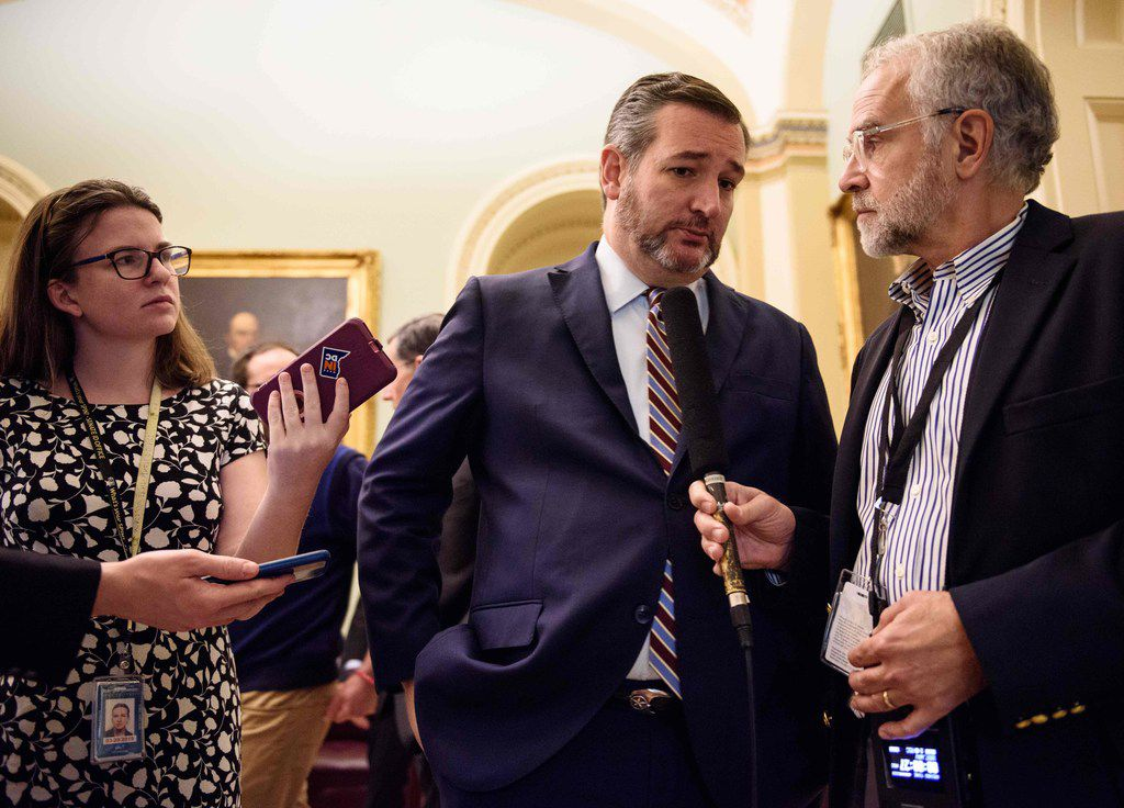 Sen. Ted Cruz spoke to reporters at the Capitol in Washington, D.C., on Thursday.