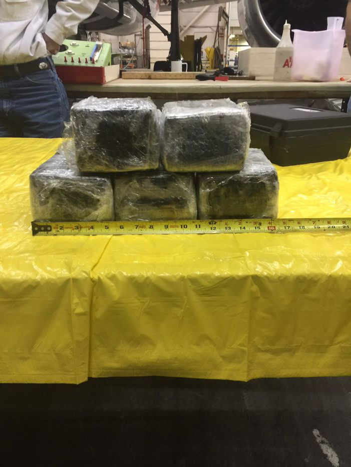 Investigators found seven bricks of cocaine, totaling 31 pounds. (Tulsa County Sheriff's Office)