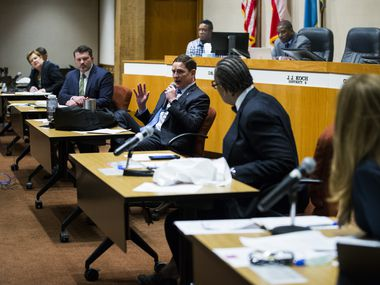 The Dallas County Commissioners Court met March 19 to authorize an extension of Judge Clay Jenkins' order. The court met again on Friday to extend the order, which requires individuals to stay home except for critical errands, until April 30. (Ashley Landis/The Dallas Morning News)