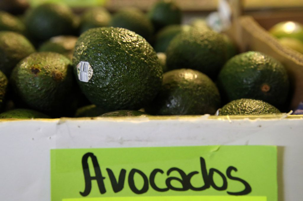 Avocados are displayed at a produce market on April 02, 2019 in San Francisco, California. According to the CEO of Mission Produce, the avocado supply in the United States could be depleted in three weeks if president Donald Trump follows through on his threat to shut down the border with Mexico. (Photo by Justin Sullivan/Getty Images)