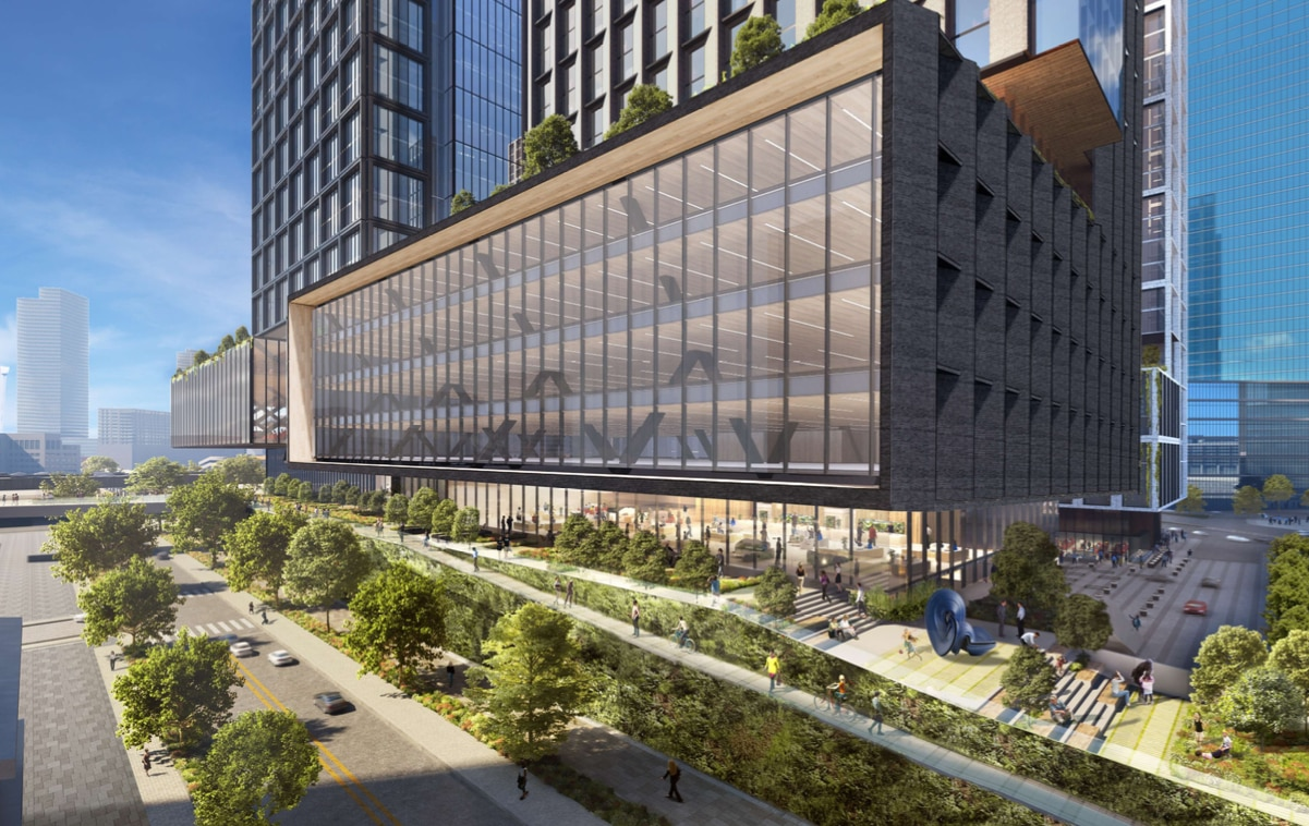 The high-rise project is planned for one of the largest development sites downtown.
