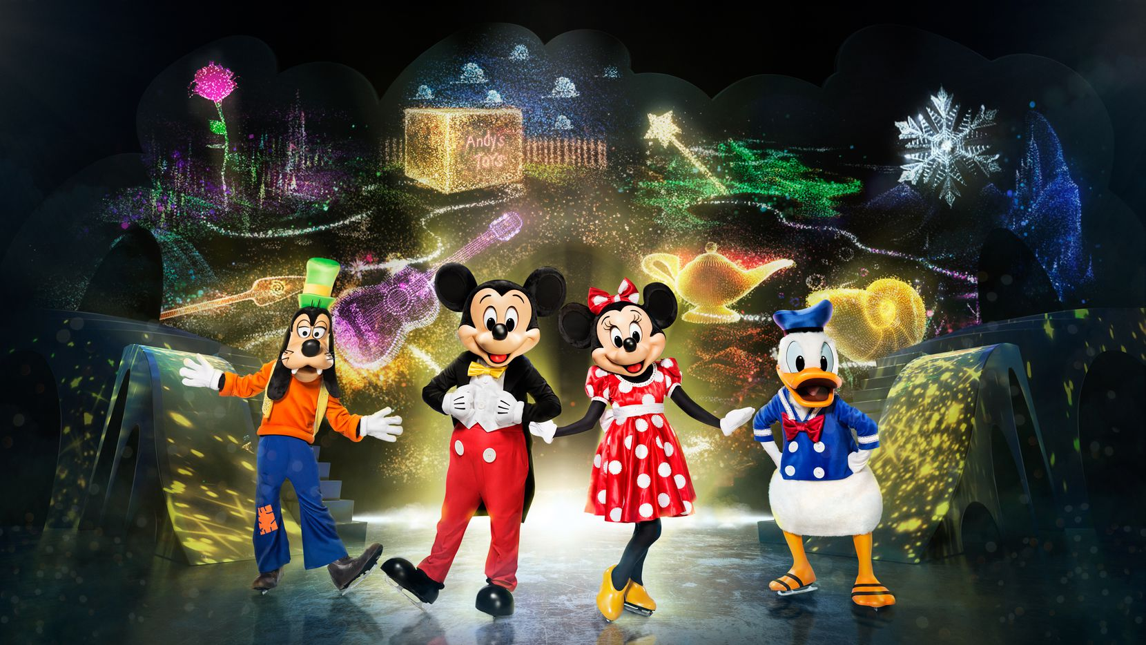 """Disney On Ice"" presents ""Mickey's Search Party"" will be at American Airlines Center in Dallas April 2-4, 2021, and Dickies Arena in Fort Worth April 7-11, 2021."