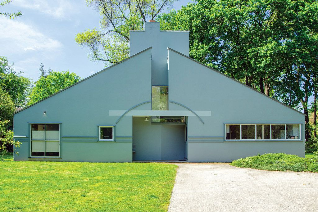 The house Robert Venturi and his wife, Denise Scott Brown, designed for his mother, Vanna.