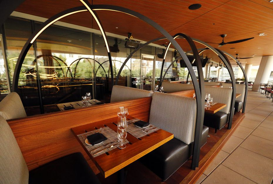 The patio is located on the upper floor of the new Del Frisco's Double Eagle Steak House in Uptown Dallas.