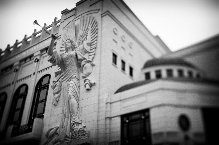 An angel at Bass Performance Hall in Fort Worth (Evans Caglage/The Dallas Morning News