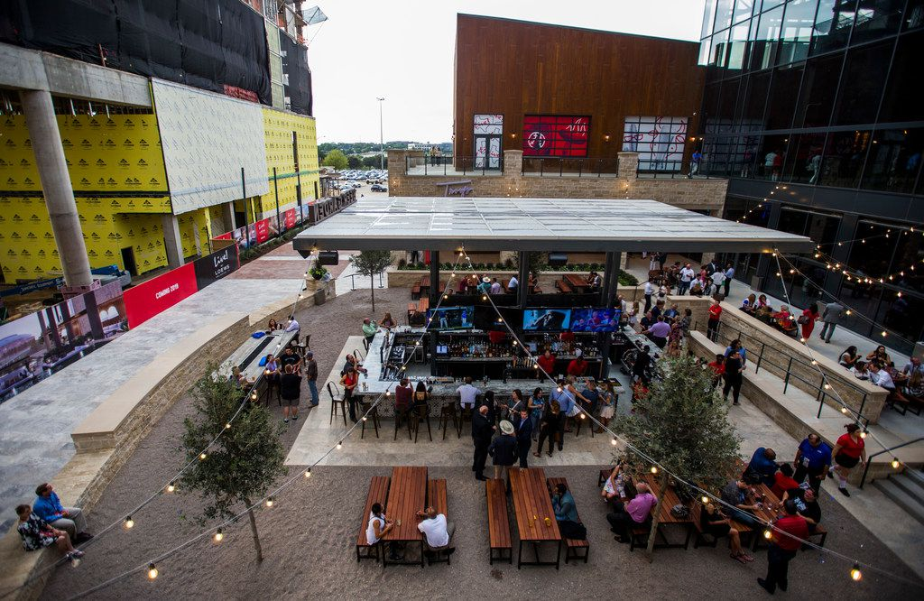 Texas Live has numerous outdoor patios and bars where patrons can enjoy a beverages as well as some fresh air.
