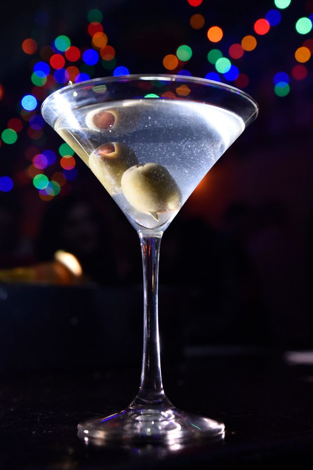 Brian's Martini, made with vodka, dry vermouth, shaken and olives, served at the Drunken Clam, Thursday night Jan. 10, 2019 in Dallas. Drunken Clam is themed after the bar in Family Guy. Ben Torres/Special Contributor