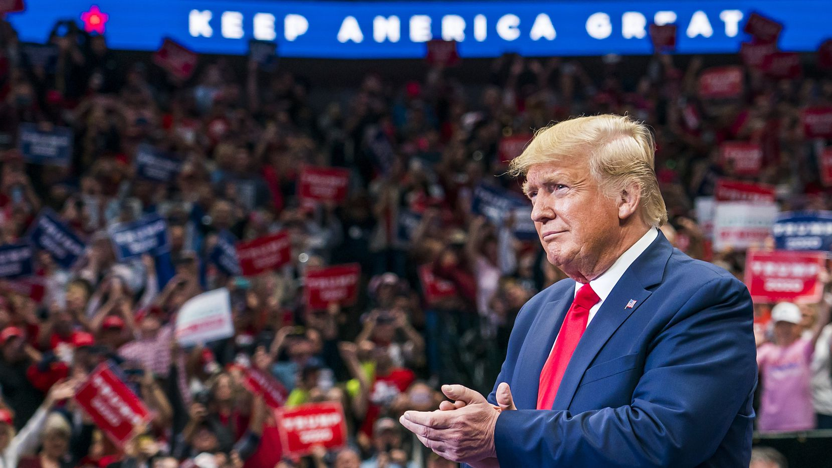 President Donald Trump will return to Texas a month after his campaign rally at American Airlines Center in Dallas on Oct. 17.