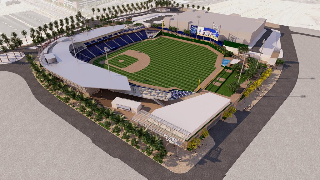 The open-air stadium will be built in downtown Summerlin, a master planned community built by Howard Hughes Corp.