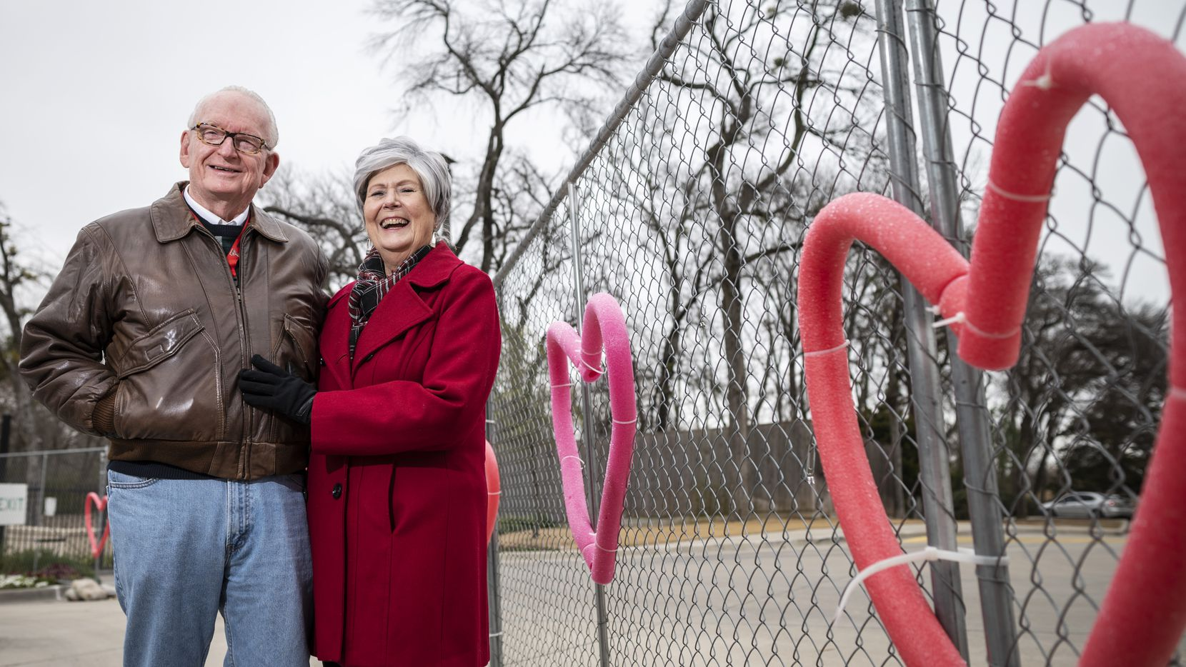 Jay Orr, 75, and Sarah Franklin, 78, are both widowed and found love with one another at CC Young Senior Living in Dallas. They say the pandemic has been easier to deal with now that they have each other.