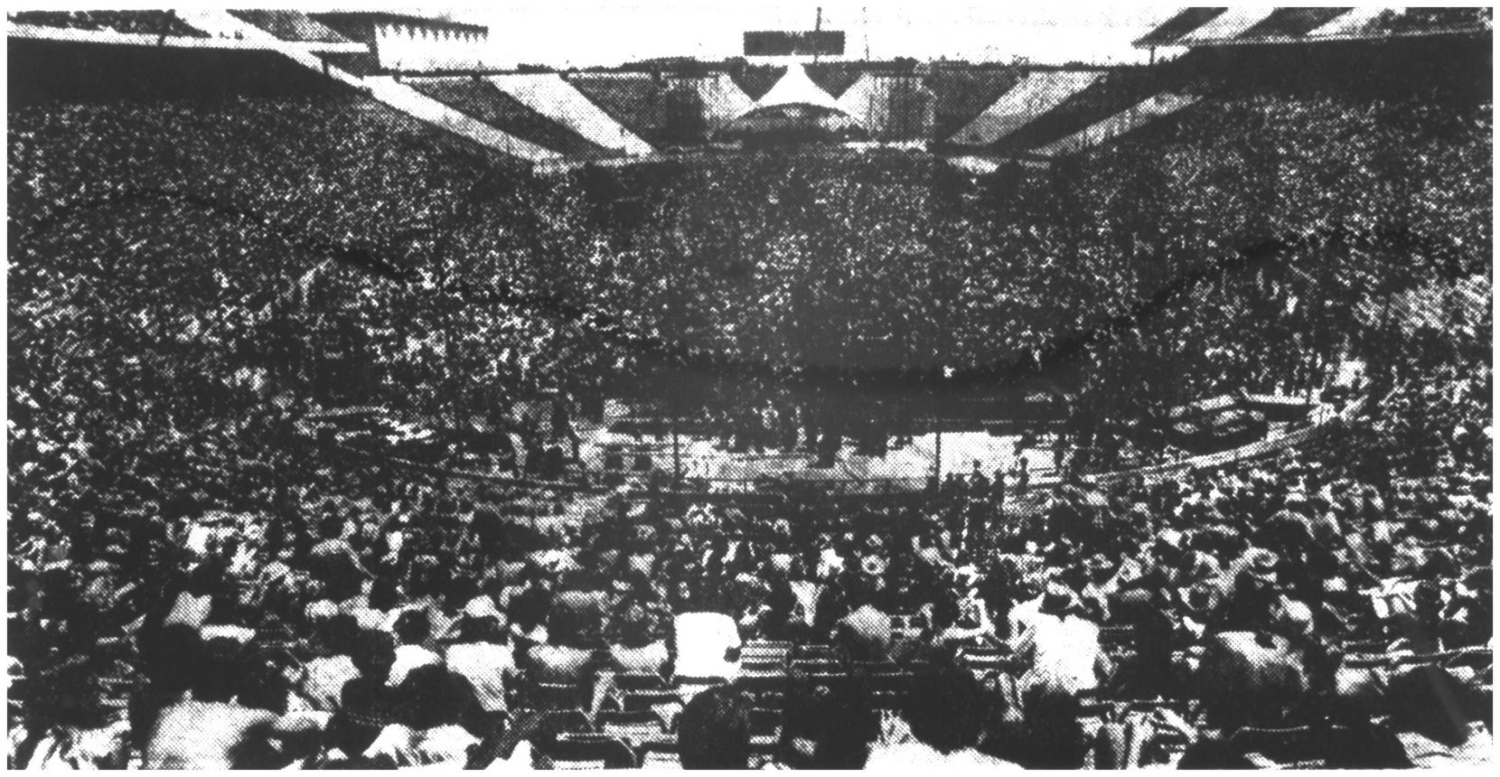 More than 50,000 Rolling Stones fans packed the Cotton Bowl in Dallas despite brutal heat on July 6, 1975.