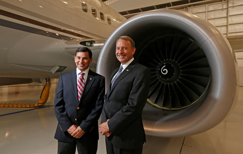 President and CEO Ched Bart (right) and Vice President and General Manager Scott Bohnenkamp head Hillwood Airways.