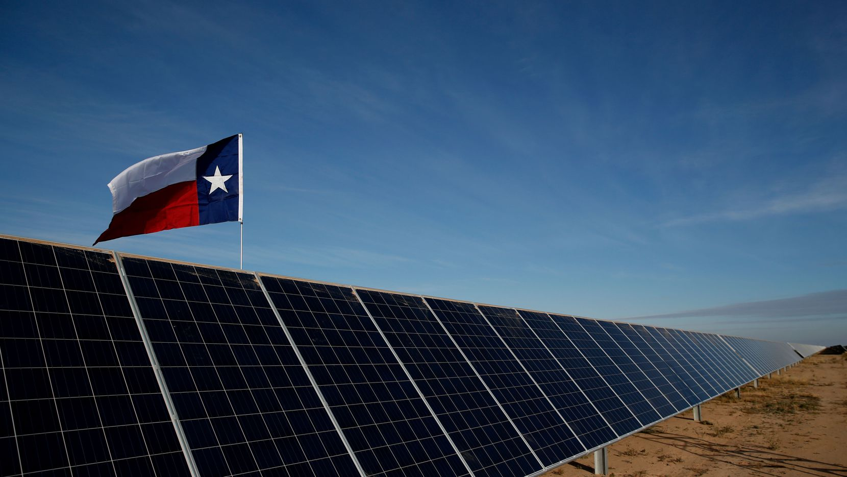 The Roserock Solar Project in Pecos County, Texas, was developed by Recurrent Energy.
