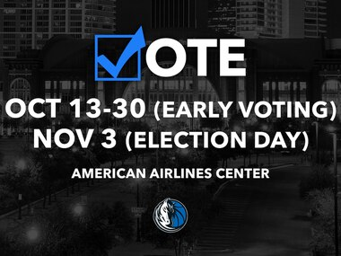 As part of the Mavs Take ACTION plan to address racial inequities and promote social justice, the Mavs urge Texans to get out and vote. The American Airlines Center is the largest polling place in Dallas County.