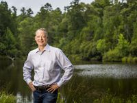 Monty Bennett, chairman and CEO of Ashford Inc., at his East Texas ranch on June 22, 2020, in Henderson County.