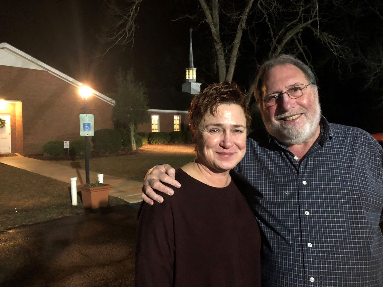 Susan and Mark Tons of St. Louis arrived at about 5 a.m. for Jimmy Carter's 10 a.m. Sunday school lesson.