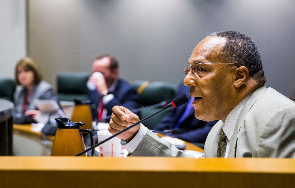 City Councilman Kevin Felder speaks as the Dallas City Council discusses the Trinity River park project on Wednesday.