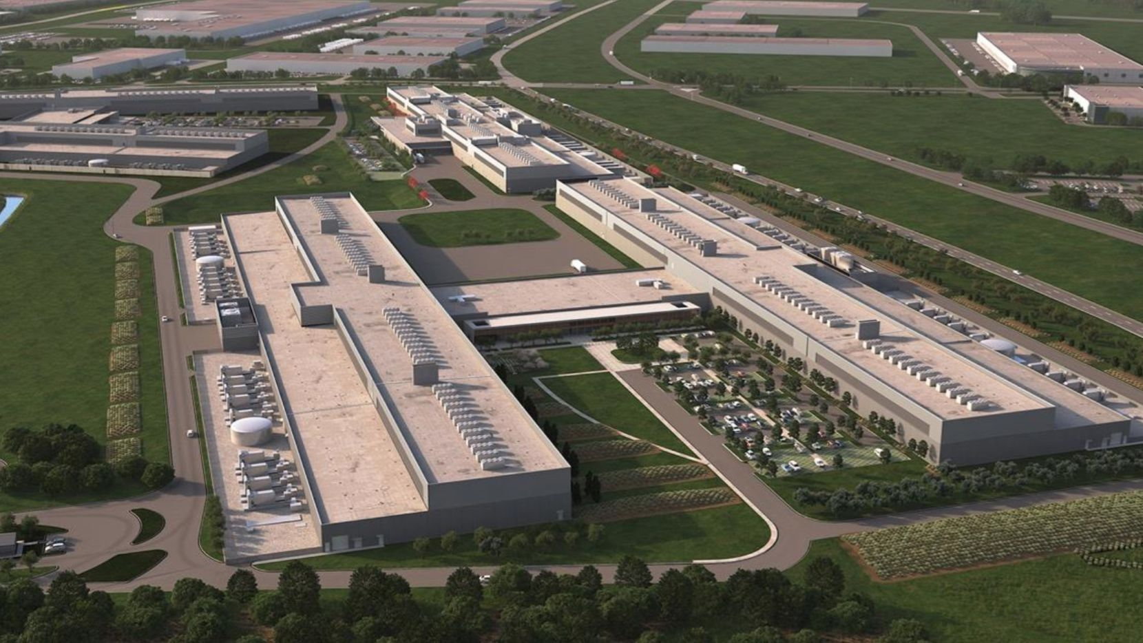 Facebook started work on this 150-acre North Fort Worth data center campus in 2015.