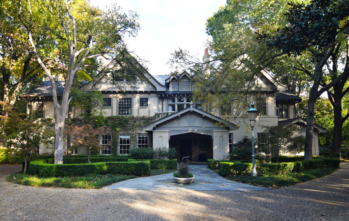The Trammell Crow home at 4500 Preston was built in 1912 in Highland Park.