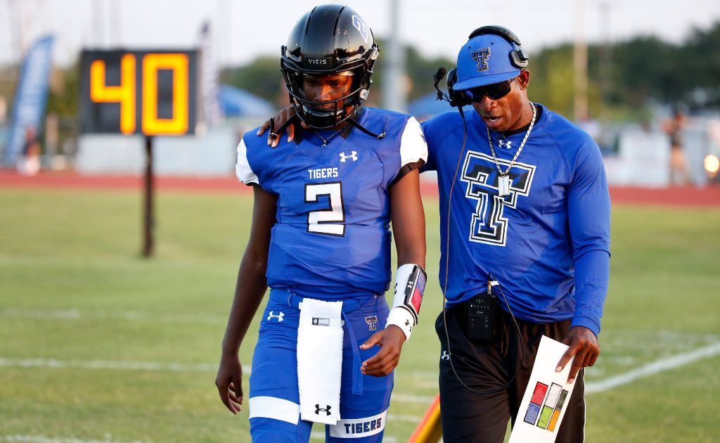 Deion Sanders Says He Ll Be A College Coach Next Season But His Son Says The Hall Of Famer Isn T Leaving Tc Cedar Hill